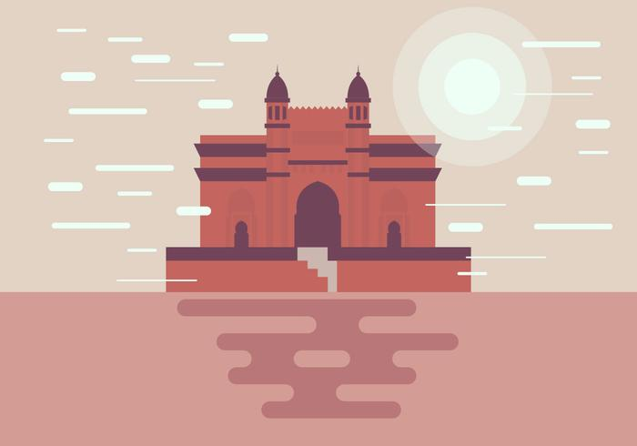 Mumbai Monument Illustration Vector