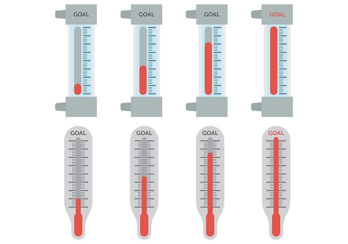 Vecteur d'icônes de thermomètre d'objectif libre