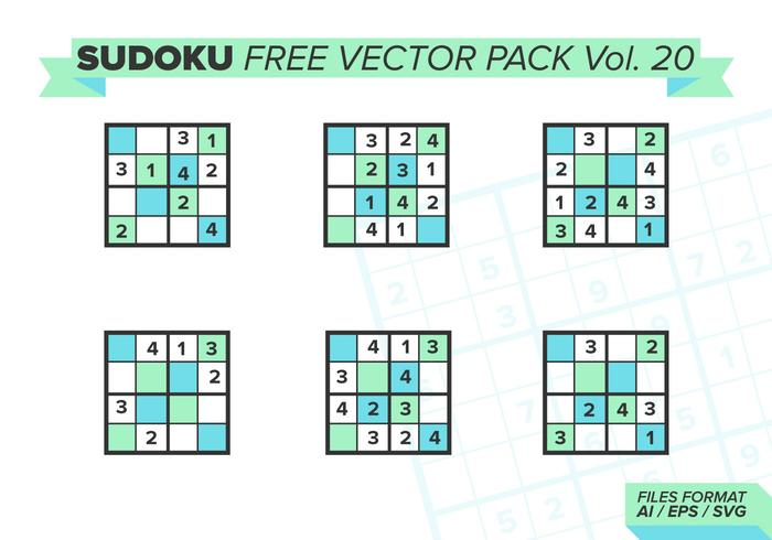 Sudoku Free Vector Pack Vol. 20