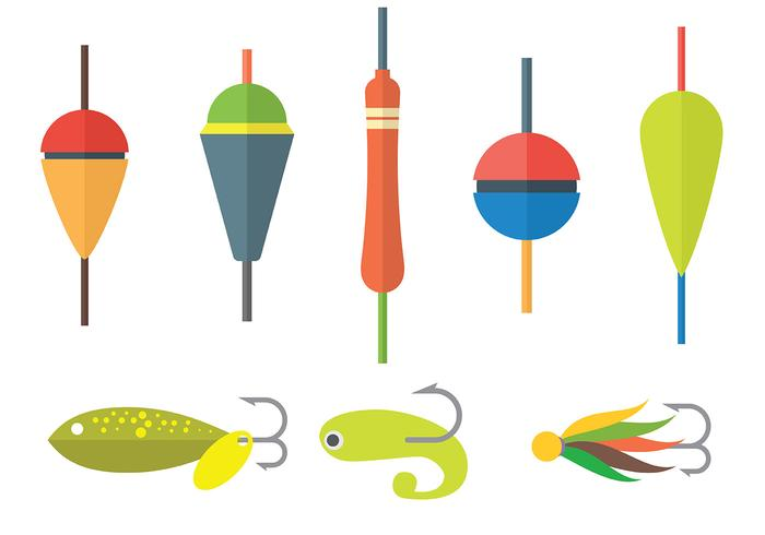 Free Fishing Lure Icons Vector