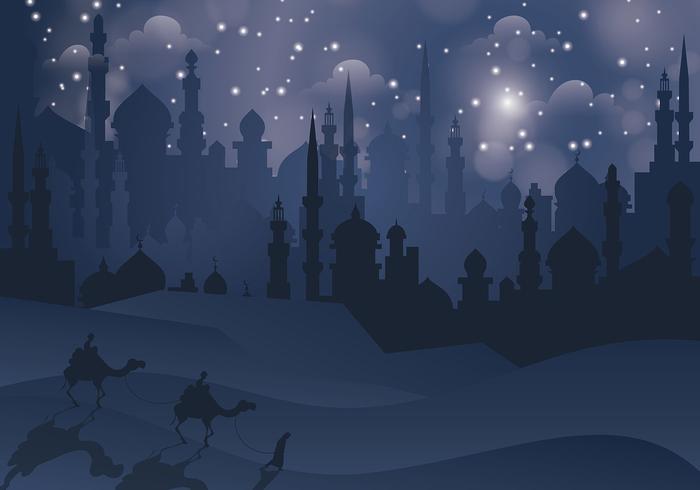 Free Arabian Nights Vector Illustration