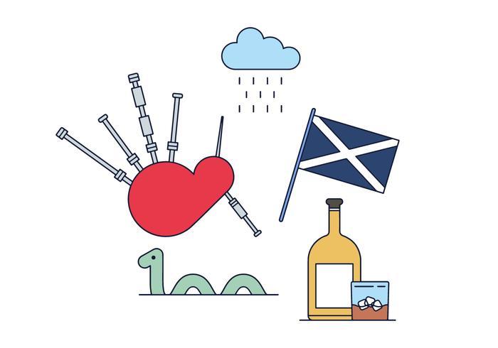 Vector libre de Escocia