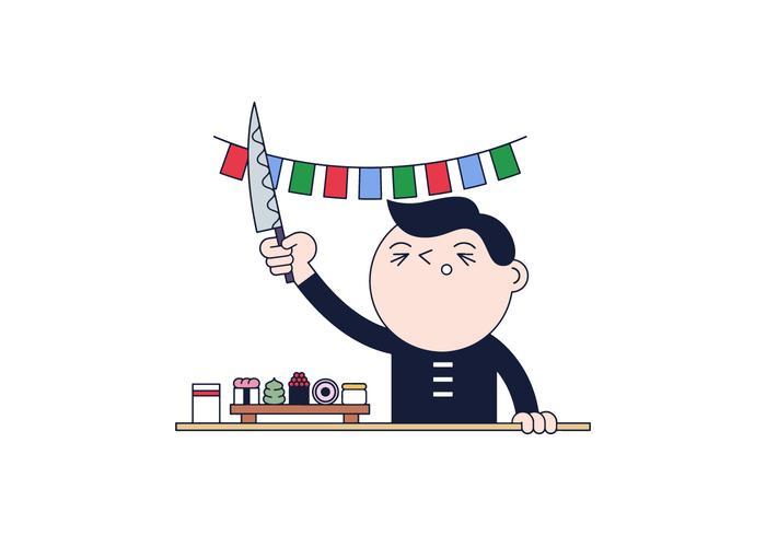 Free Sushi Master Vector