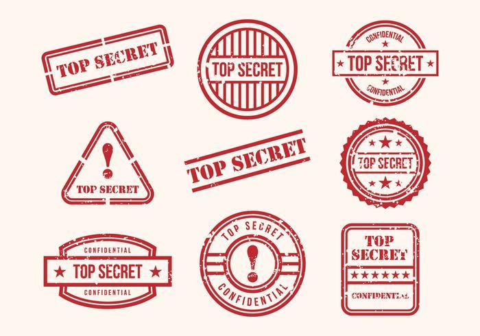 Free Top Secret Stamps Vector