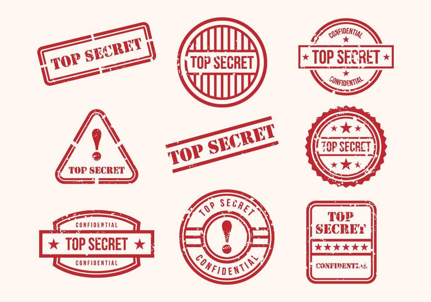 free top secret stamps vector download free vector art