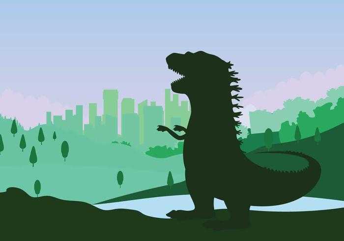 Free Godzilla Illustration vector