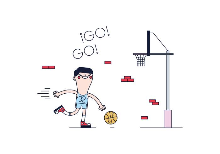 Free Basketball Player Vector