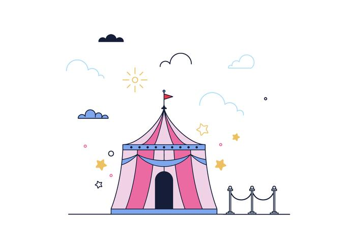 Vetor de circo livre