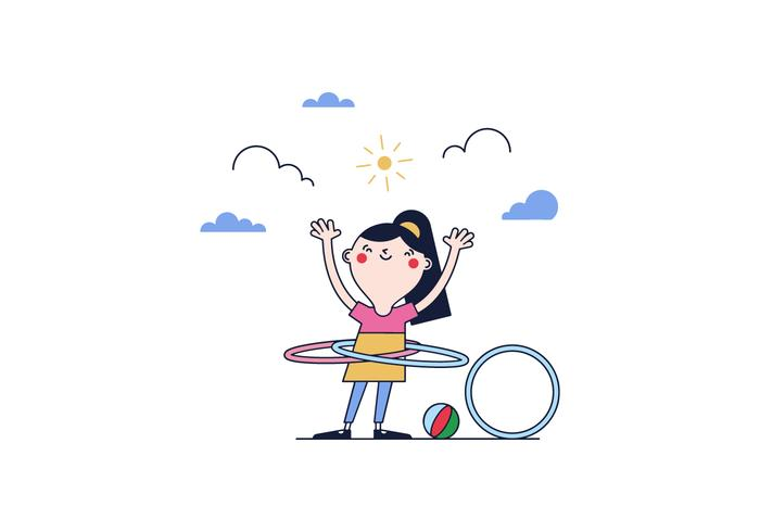 Freier Hula Hoop Vektor