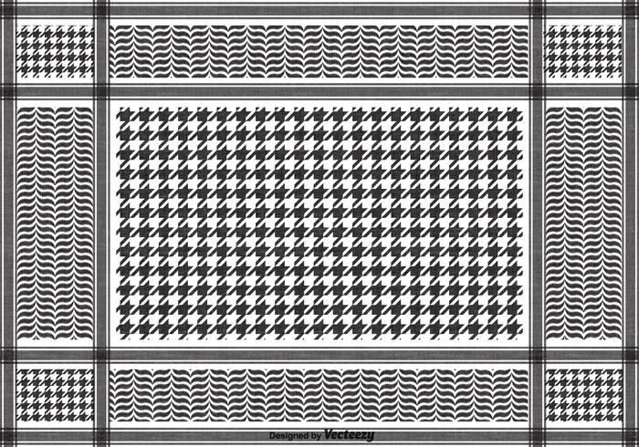 Free Vector Black Keffiyeh Pattern