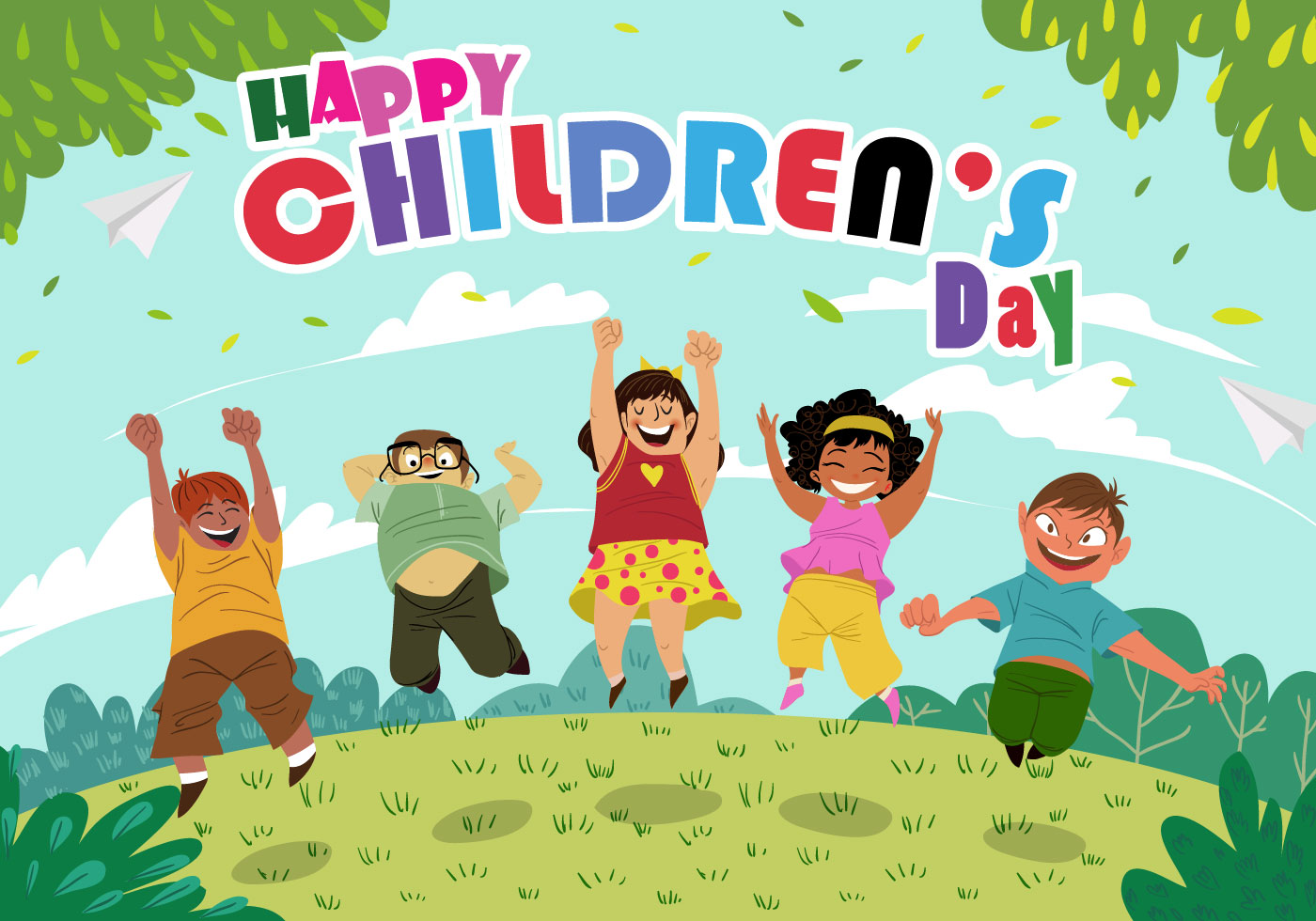happy childrens whatsapp status - HD 1400×980