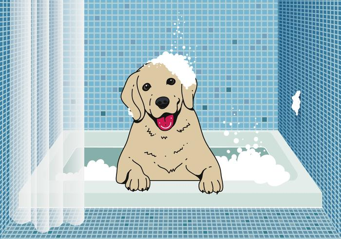 Cute dog wash background download free vector art stock graphics cute dog wash background voltagebd Gallery