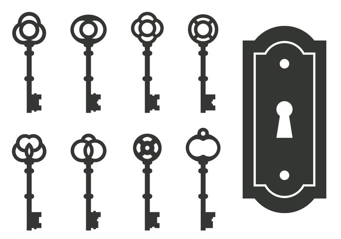 classic skeleton key vectors download free vector art stock rh vecteezy com skeleton key silhouette vector heart skeleton key vector