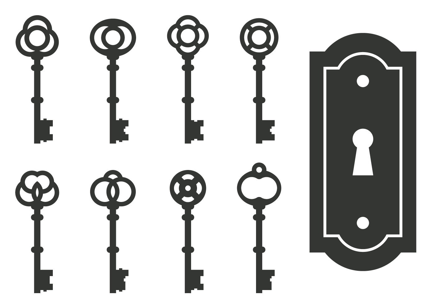 skeleton key clipart free vector - photo #23