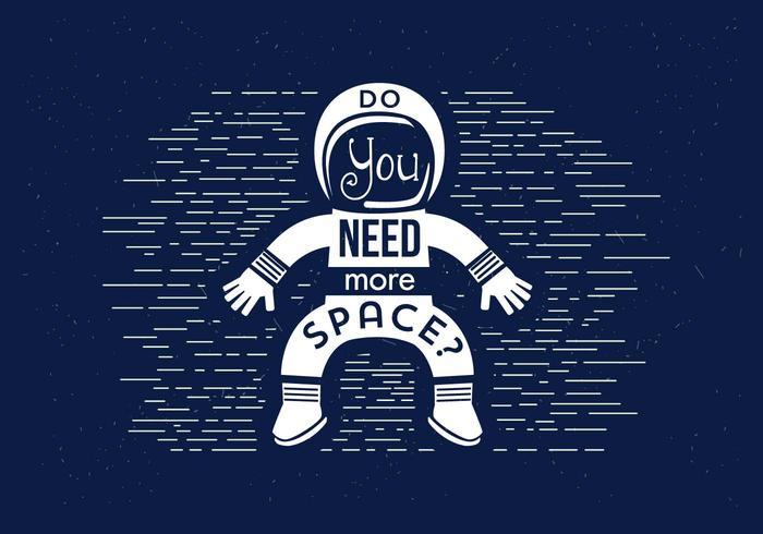 Astronaute de vecteur libre
