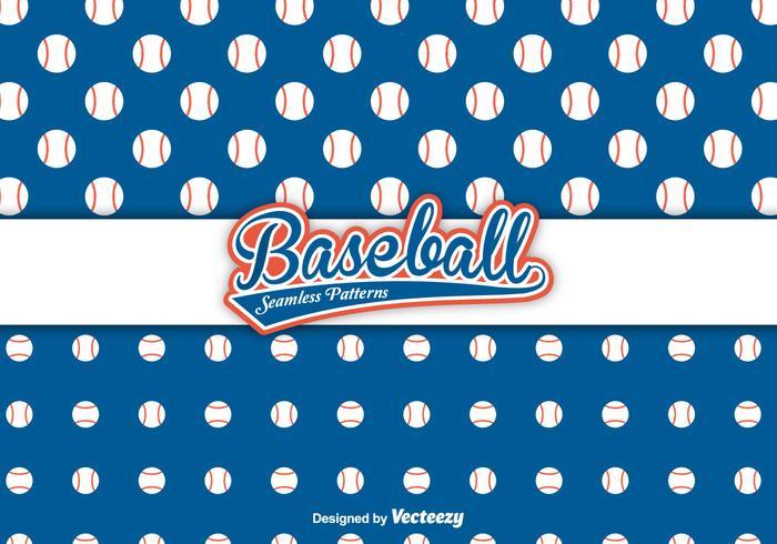 Baseball Vector Patterns