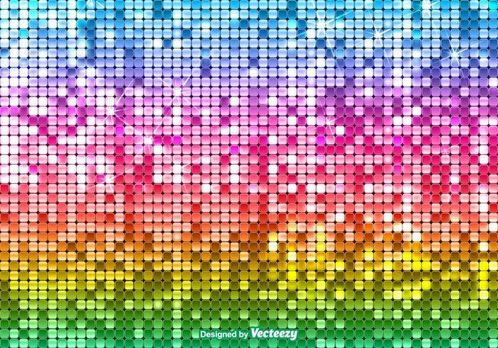 Bright Vector Sequin Rainbow Background