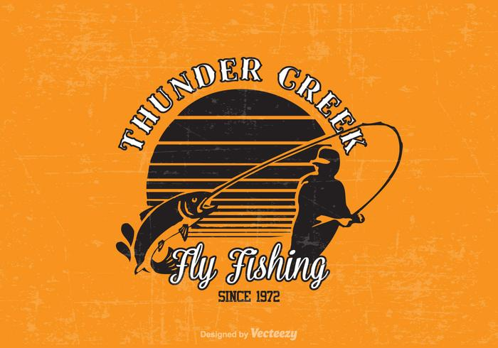 Free Fly Fishing Vector Design