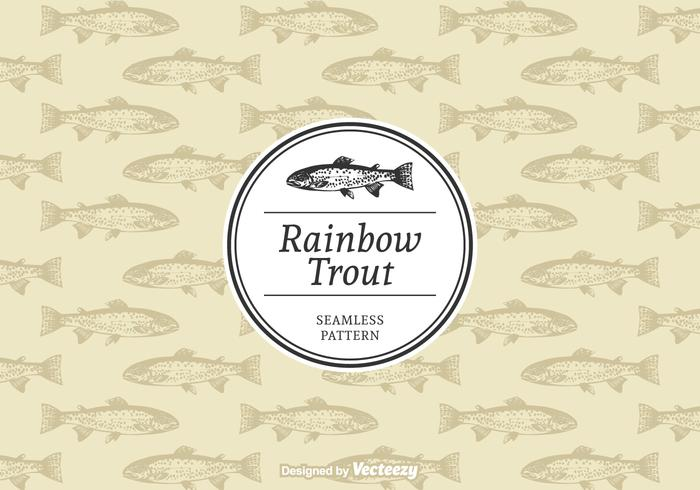 Rainbow Trout Vector Pattern