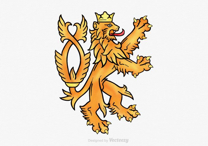 Illustration vectorielle gratuite Lion Rampant