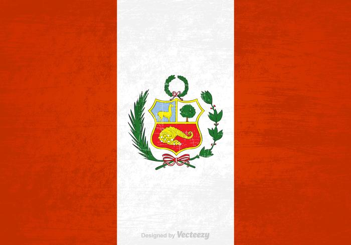 Gratis Vector Grunge Peru Vlag