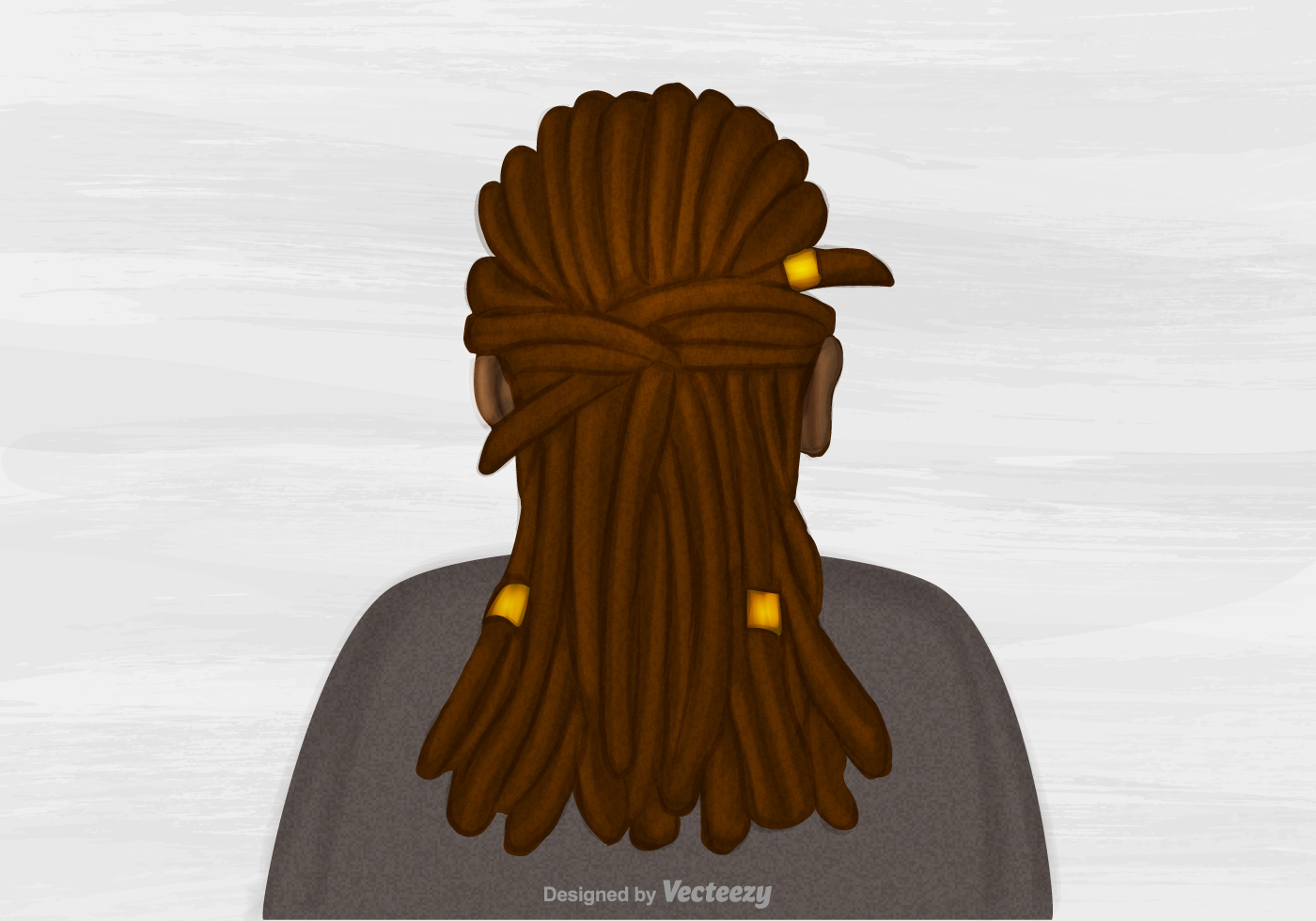 Hairstyle Vector: Free Vector Dreads Hairstyle Illustration