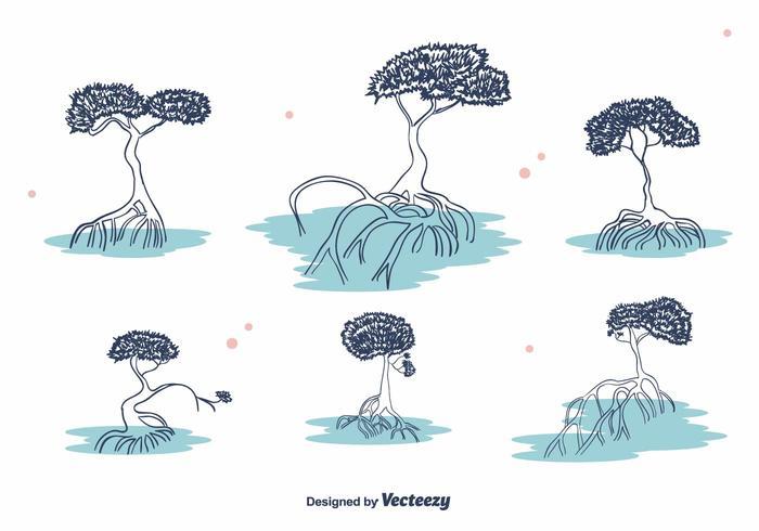 Mangrove-Vektor vektor