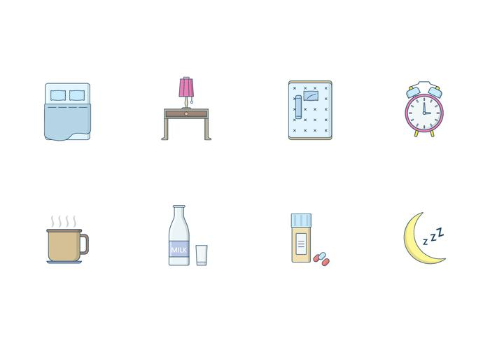 Free Sleeping Icons Vector