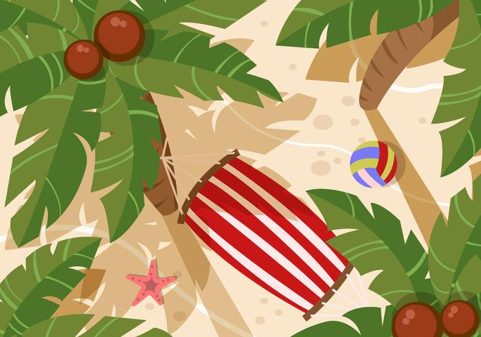 Trees Top View For Landscape Beach Vector