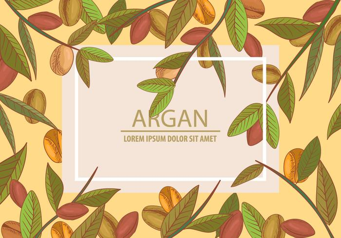 Argan Seamless And Background Template Concept