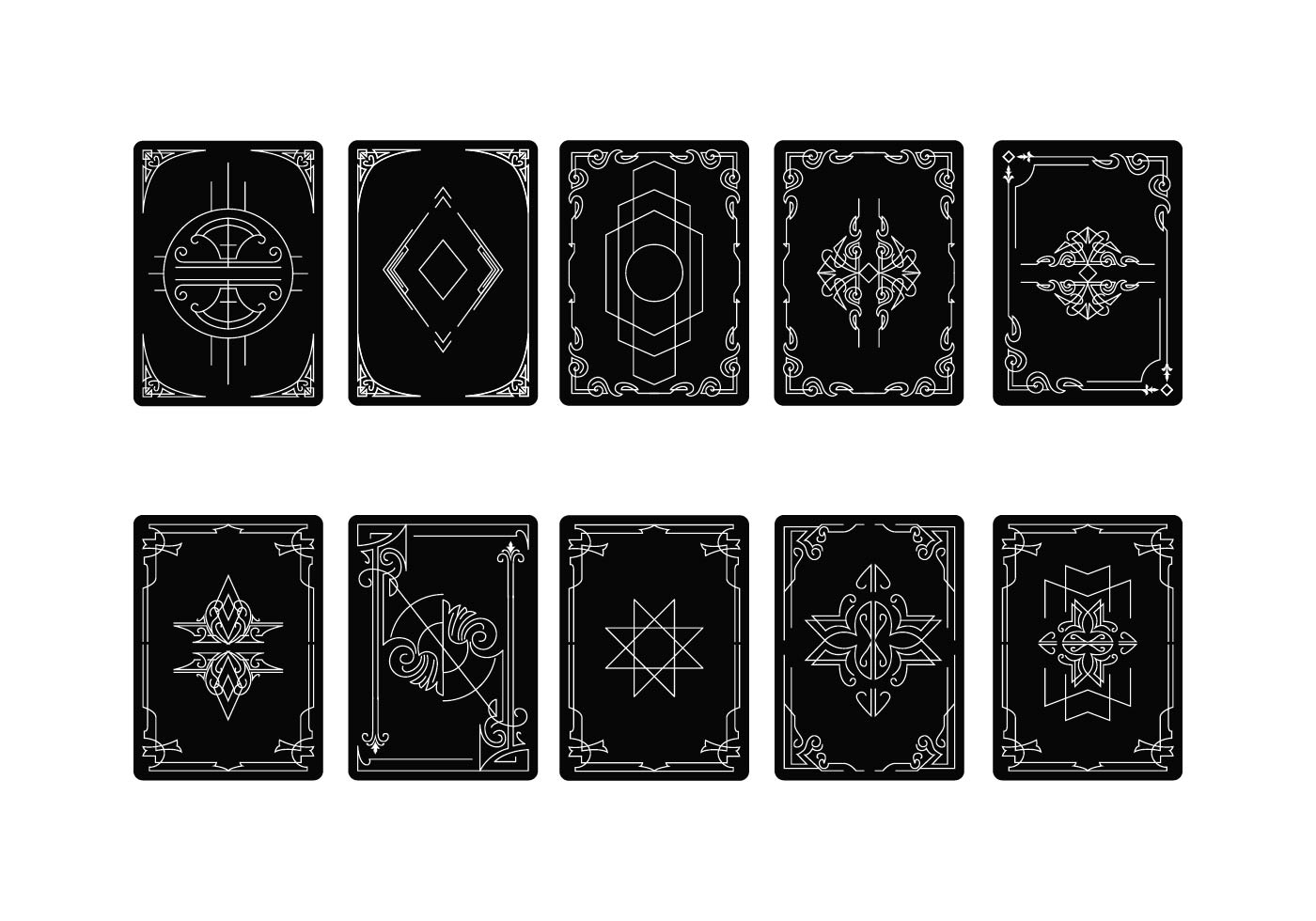 Free Playing Card Back Vector - Download Free Vector Art ...
