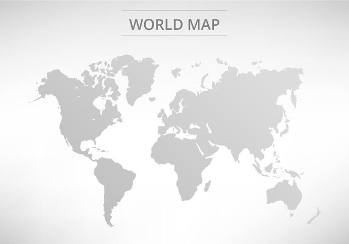 Superb Vector Grey World Map