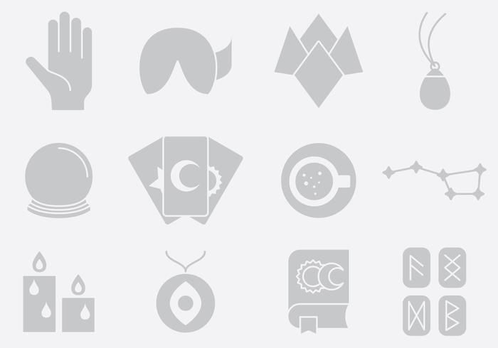 Gray Fortune Telling Icons