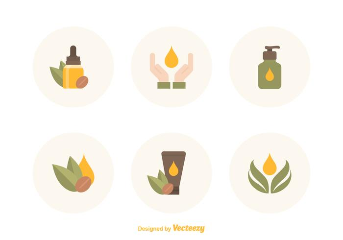 Free Argan Oil Vector Icons