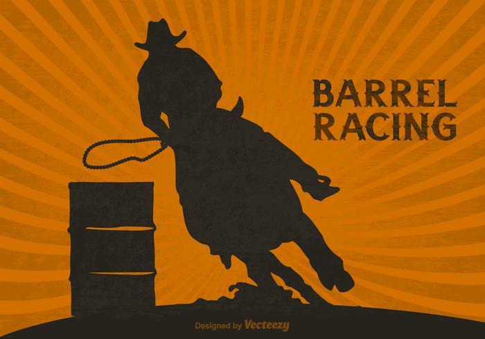 Free Barrel Racing Vector Background