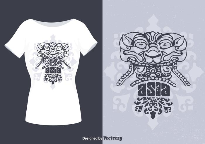 Design gratuito do t-shirt do vetor de Barong