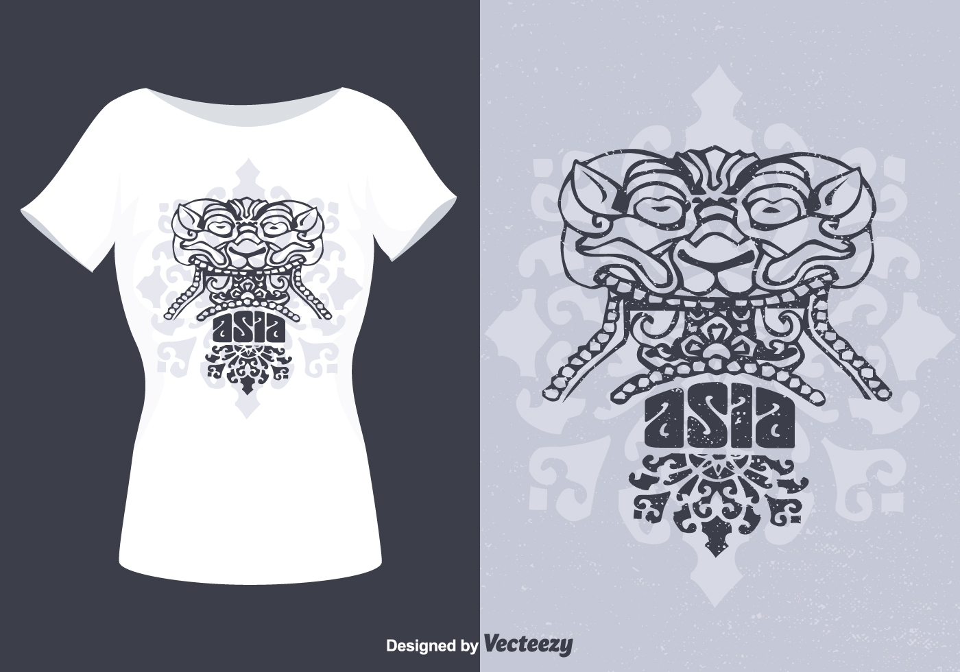 T Shirt Design Line Art : Barong bali simple vector download free art stock graphics