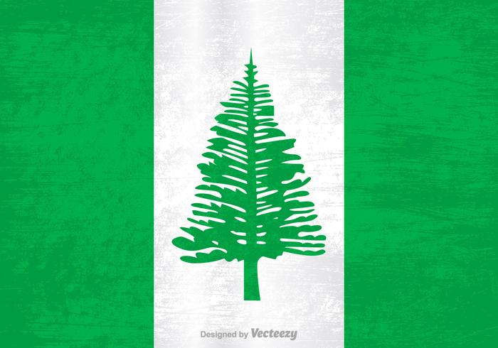 Free Vector Grunge Flag Of Norfolk Island