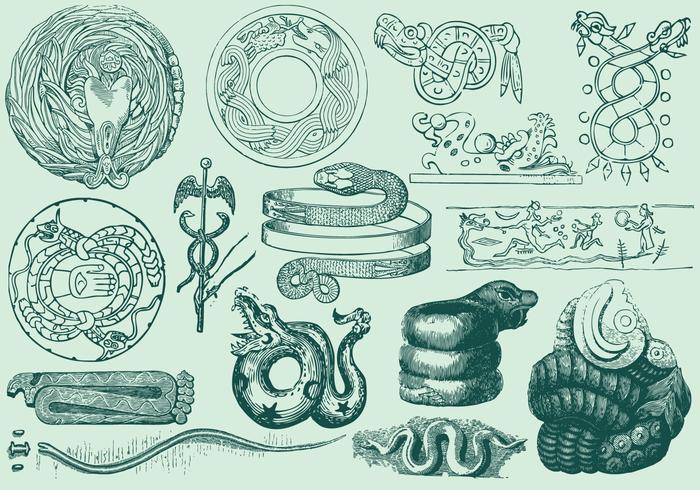 Ancient serpent art