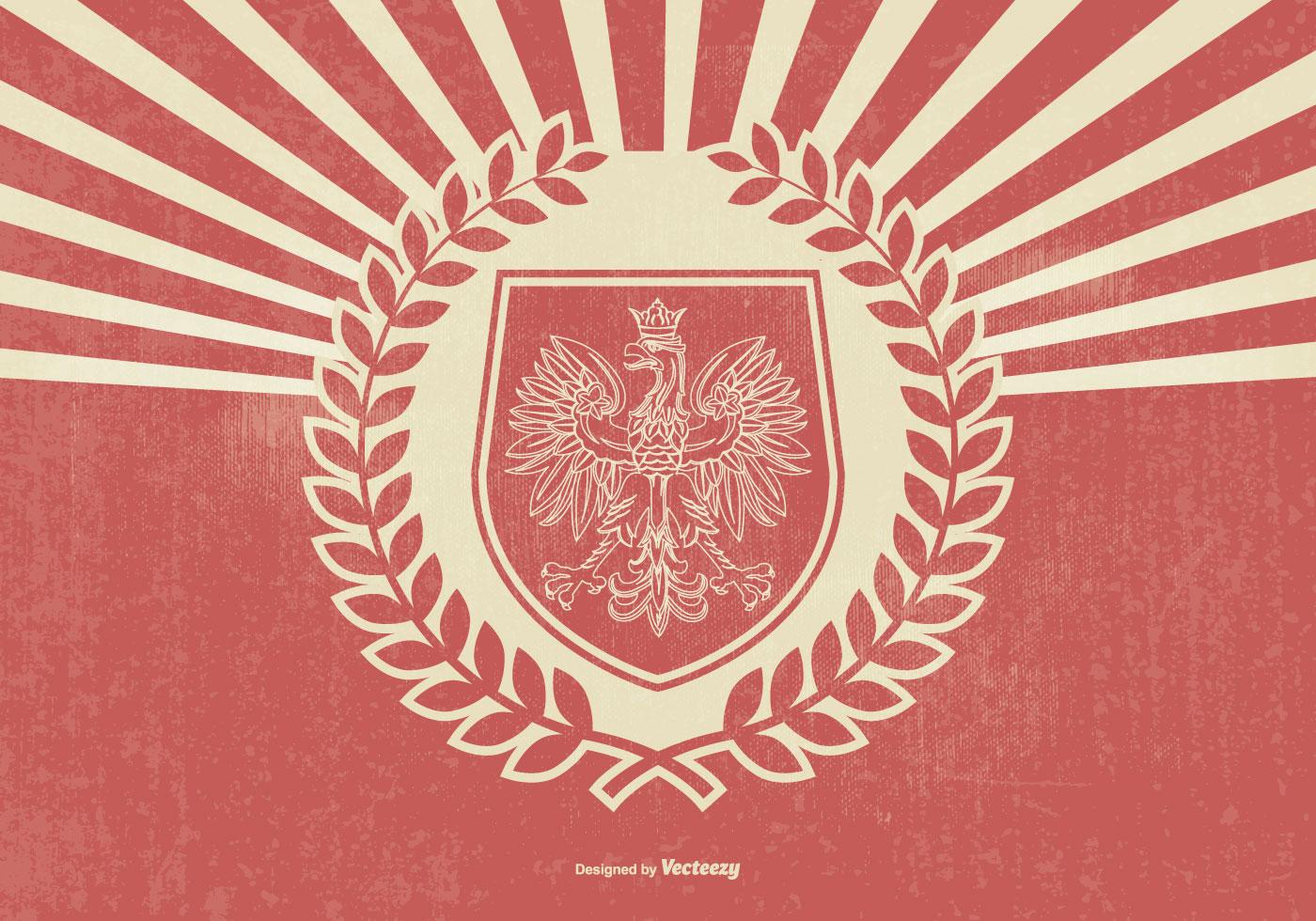 Retro Style Polish Eagle Illustration Download Free