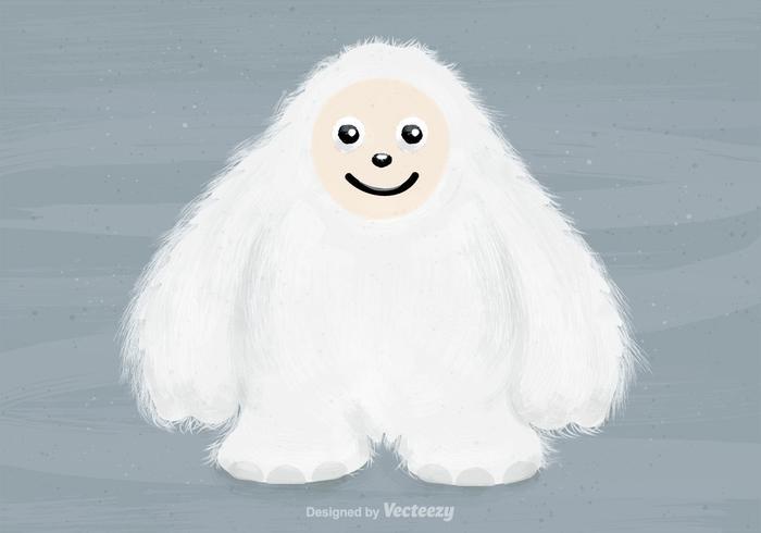 Freier Vektor Yeti Charakter