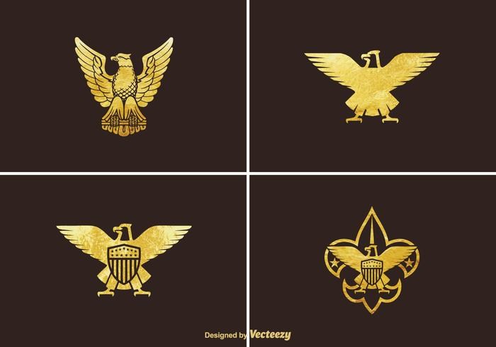Ensemble de vecteur Golden Eagle gratuit