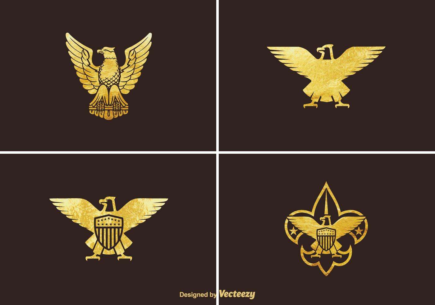 Free Golden Eagle Vector Set Download Free Vector Art Stock