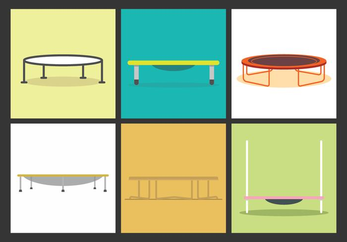 Illustrations vectorielles Trampoline