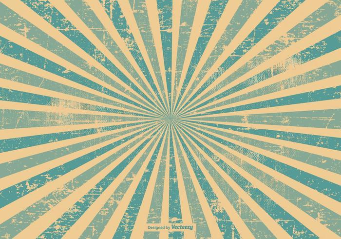 Blå Grunge Style Sunburst Bakgrund vektor