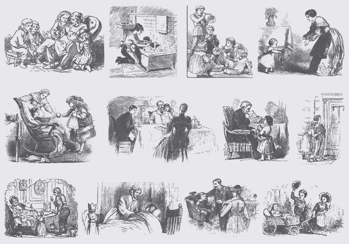 Vintage People Illustrations