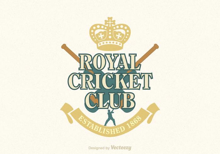 Cricket Vector Emblem