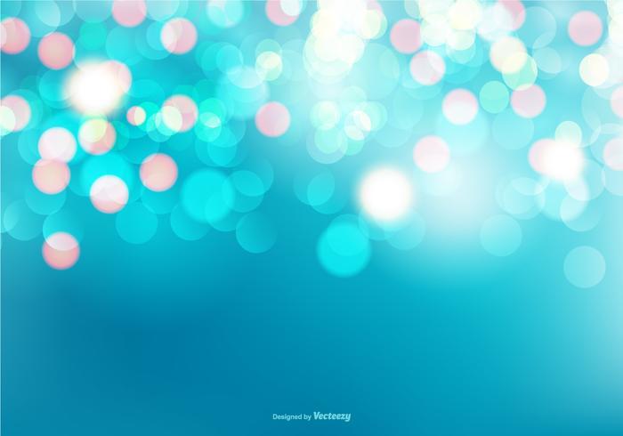 Beautiful Blue Bokeh Background