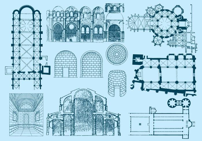 Blueprint free vector art 6605 free downloads old architecture plan and illustrations malvernweather Images