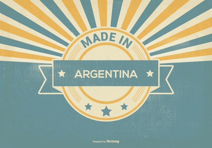Retro hecho en la ilustración de la Argentina